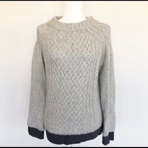 Anthropologie Sparrow Cable Knit Grey Sweater